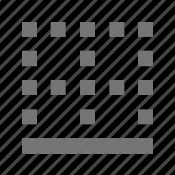border, bottom border icon