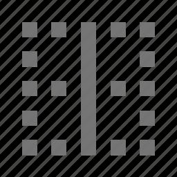 border, horizontal border icon