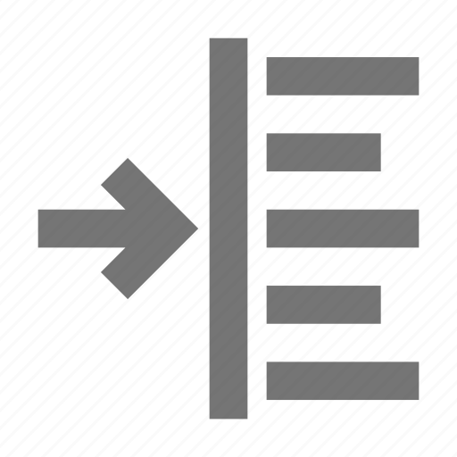 indent, indent left icon