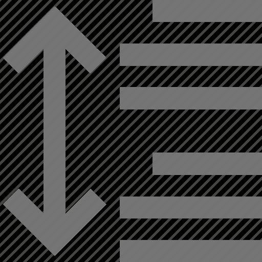 arrow, paragraph, paragraph spacing, spacing icon