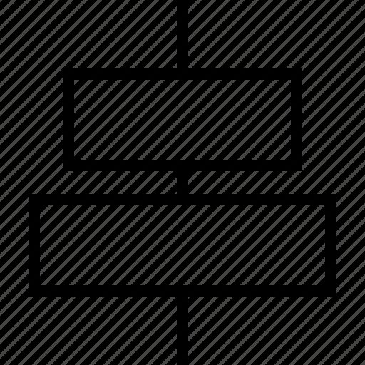 align, center, horizontal icon