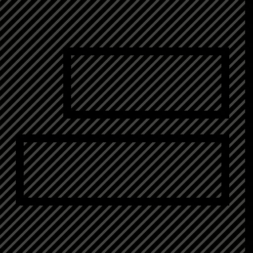 align, horizontal, right icon