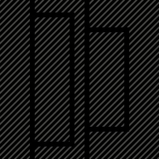 align, distribute, horizontal, left icon