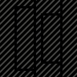 align, distribute, horizontal, right icon