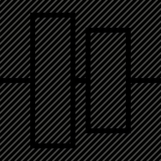 align, center, vertical icon
