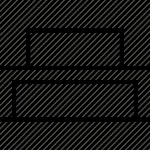 align, bottom, distribute, vertical icon