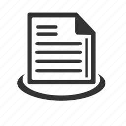 business, information, list, page, paper icon