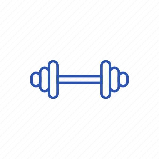 barbell, crossbar, sport icon