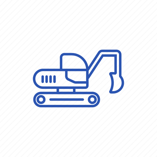 bulldozer, construction, machine icon