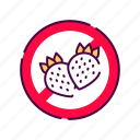 allergenic, allergy, food, fruit, ingredient, intolerance, strawberry icon