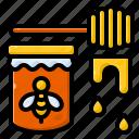 bee, honeycomb, sweet, honey