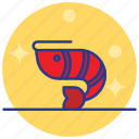 animal, mammal, sea food, shell fish, shrimp icon