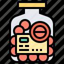 aspirin, bottle, medicine, painkiller, pills