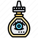 conjunctivitis, drops, eye, medication, pharmacy icon