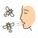 allergy, hornet, hypersensitivity, immune system, insect, sting, wasp icon
