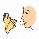 allergic, allergy, asthma, disease, gloves, latex, rubber icon