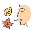 allergic, allergy, fall, mold, ragweed, reaction, seasonal icon