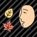 allergic, allergy, fall, mold, ragweed, reaction, seasonal icon