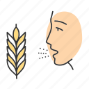 allergic, allergy, asthma, gluten, intolerance, rhinitis, wheat icon
