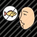 allergic, allergy, disease, fish, immune system, seafood, sensitivity icon