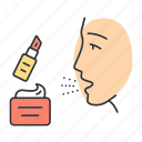 allergic, allergy, beauty, cosmetic, product, reaction, skin cream icon