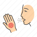allergen, allergy, disease, itchy, rash, respiratory, symptom icon