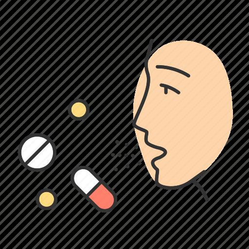 allergic, allergy, drug, hypersensitivity, immune system, medicine, reaction icon