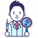 allergist, allergy, doctor icon
