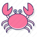 allergy, crab, crustacean icon