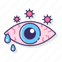 allergy, eye, redness icon