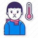allergy, colds, fever icon