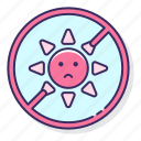 allergy, sun, weather icon
