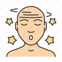 concussion, dizziness, fatigue, headache, illness, malaise, vertigo icon