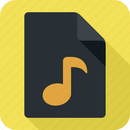 audio, extension, file, format icon