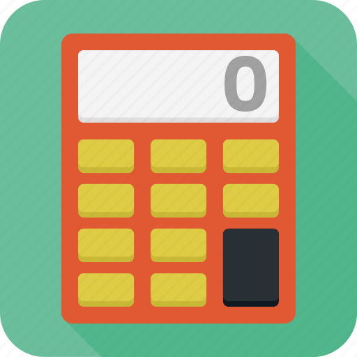 business, calculator, education, numbers icon