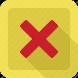 cancel, close, delete, error icon