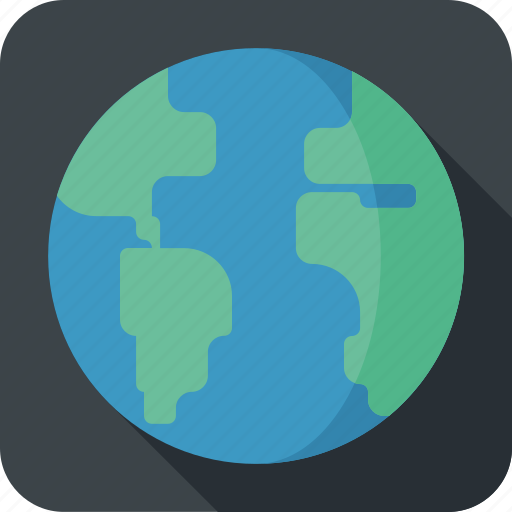 earth, globe, map, network, planet, web icon