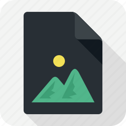document, extension, file, image, photo icon