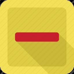 close, exit, minus, remove icon