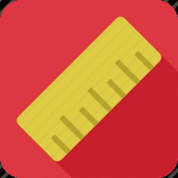 art, design, measure, ruler, tool icon