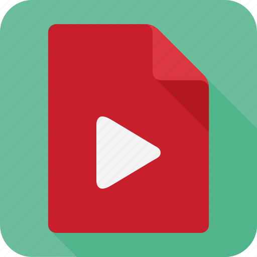 extension, file, format, movie, paper, video icon