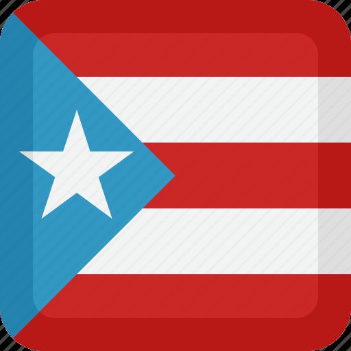 puerto, rico icon