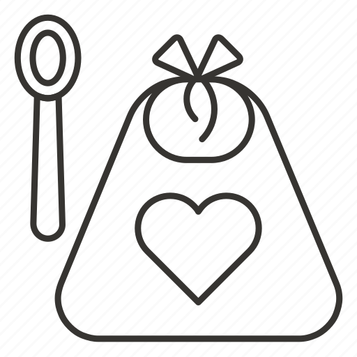 apron, baby, bib, infant, kitchen, newborn, spoon icon