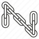 chain, connection, hyperlink, link, waterfront, weapon, web icon