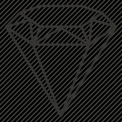 diamond, gem, jewel, jewellery, jewelry icon
