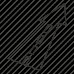 arrow, arrows, direction, navigation, road, sign, top icon