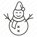christmas, new year, ny, snow, snowman, winter, xmas icon