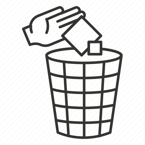 bin, delete, garbage, recycle, remove, trash can icon
