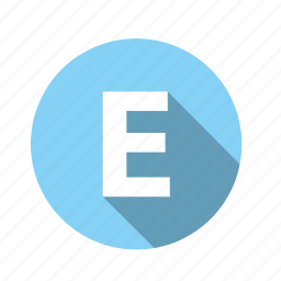 abc, alphabet, e, font, graphic, language, letter, text icon