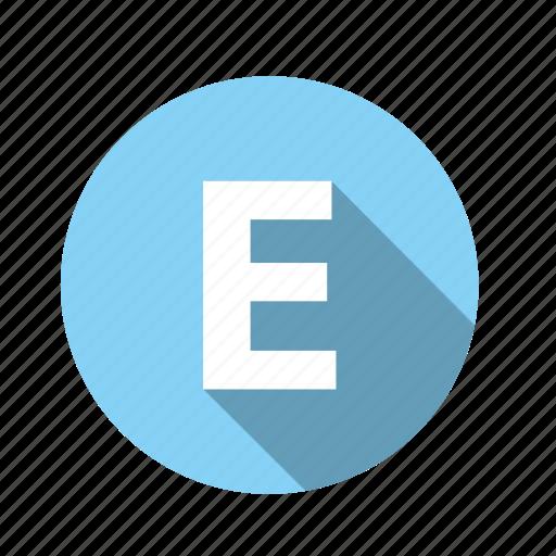abc, alphabet, e, font, graphic, letter, text icon